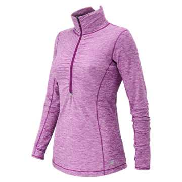 New Balance HOCR Impact Half Zip, Deep Orchid Heather