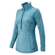 HOCR Impact Half Zip, Deep Water Heather