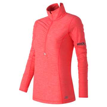 New Balance HOCR Impact Half Zip, Guava Heather