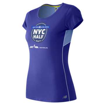 New Balance United NYC Half Training SS Tee, Spectral