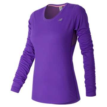 New Balance Accelerate Long Sleeve, Alpha Violet