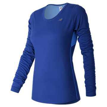 New Balance Accelerate Long Sleeve, Bluefin