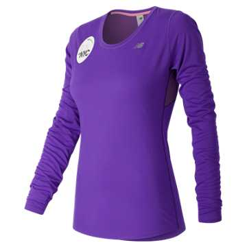 New Balance United NYC Half LS Tee, Alpha Violet Heather