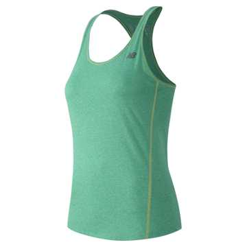 New Balance Heathered Tank, Reef Heather