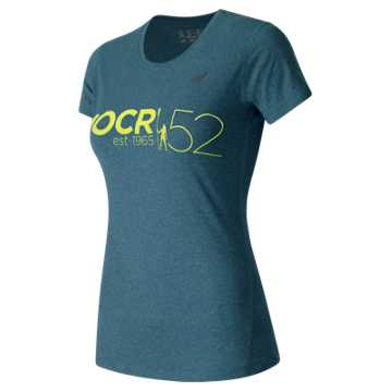 New Balance HOCR Heathered Short Sleeve Tee, Castaway Heather