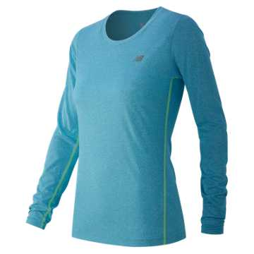 New Balance Heathered Long Sleeve Tee, Bayside Heather