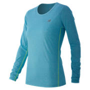 Heathered Long Sleeve Tee, Bayside Heather