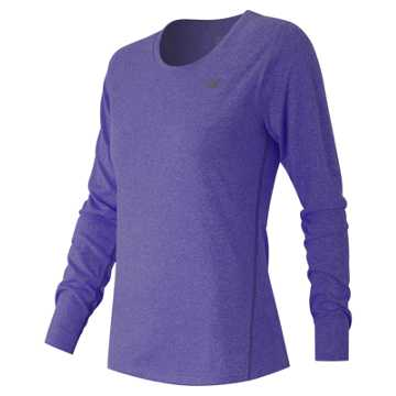 New Balance Heathered Long Sleeve Tee, Titan Heather