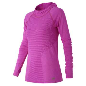 New Balance M4M Seamless Hoodie, Azalea Heather