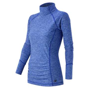 New Balance Space Dye Knit Pullover, Ocean Blue Heather