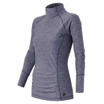 New Balance Space Dye Knit Pullover, Navy Heather