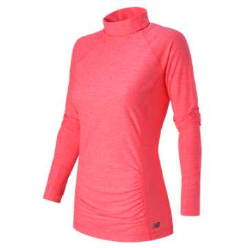 New Balance Space Dye Knit Pullover, Pink Heather