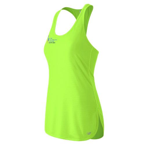 new balance female new balance 53160 womens nyc marathon training tunic tank green wt53160vlig