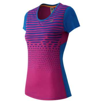 New Balance Accelerate Short Sleeve Graphic, Sonar Multi