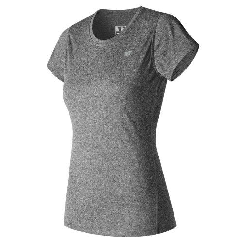 New Balance : Heathered Short Sleeve Tee : Women's Summer 2017 : WT53180BKH