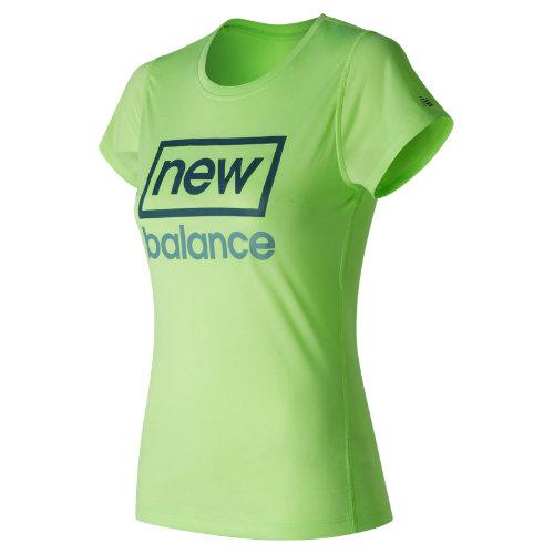 New Balance Heathered SS Tee Graphic Girl's Clothing - WT53184LOH