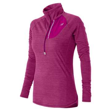 New Balance Performance Merino Half Zip, Azalea