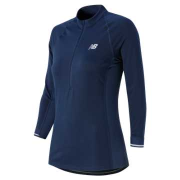 New Balance Performance 3/4 Sleeve Top, Aviator
