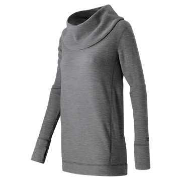 New Balance Cozy Tunic Pullover, Black Heather