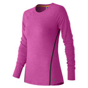 Trinamic Long Sleeve Top, Azalea Heather