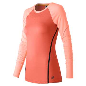 New Balance Trinamic Long Sleeve Top, Dragonfly Heather