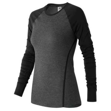 New Balance Trinamic Long Sleeve Top, Heather Charcoal