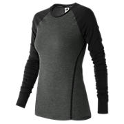 Trinamic Long Sleeve Top, Heather Charcoal