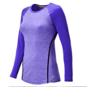 New Balance Trinamic Long Sleeve Top, Spectral Heather