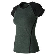 Trinamic Short Sleeve Top, Heather Charcoal