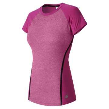 New Balance Trinamic Short Sleeve Top, Jewel Heather