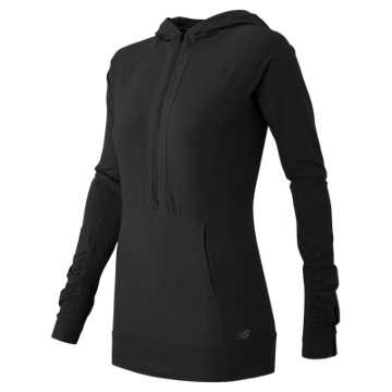 New Balance Mixed Media Half Zip, Black