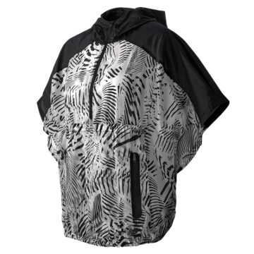New Balance Lightweight Poncho, Black with White