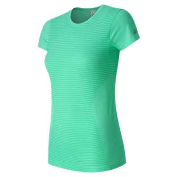 New Balance M4M Seamless Short Sleeve Tee, Aquarius Heather