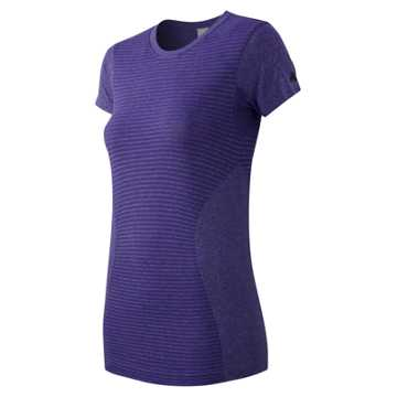 New Balance M4M Seamless Short Sleeve Tee, Titan Heather