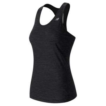 New Balance Performance Merino Tank, Black Heather