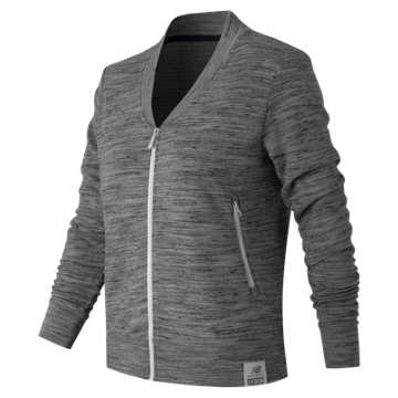 New Balance Push the Past Cardigan, Athletic Grey