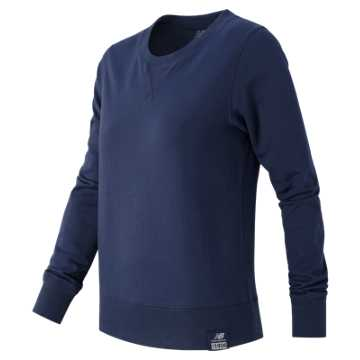 New Balance Essentials Plus Solid Crewneck, Navy