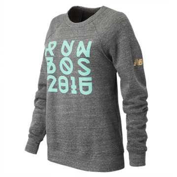 New Balance Run Boston Fleece Shirt, Grey
