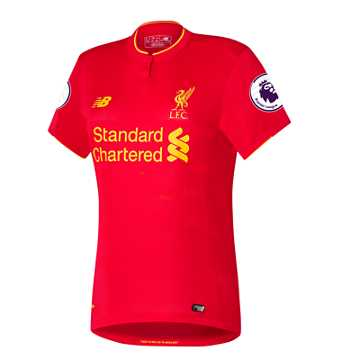 New Balance LFC Womens Firmino Home EPL Patch SS Jersey, High Risk Red