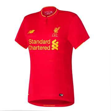 New Balance LFC Womens Henderson Home No Patch SS Jersey, High Risk Red