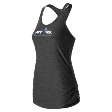 New Balance Run for Life Perfect Tank, Black Heather
