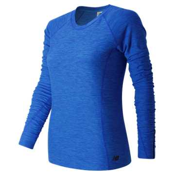 New Balance In Transit Long Sleeve, Bluefin Heather