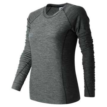 New Balance In Transit Long Sleeve, Black Heather
