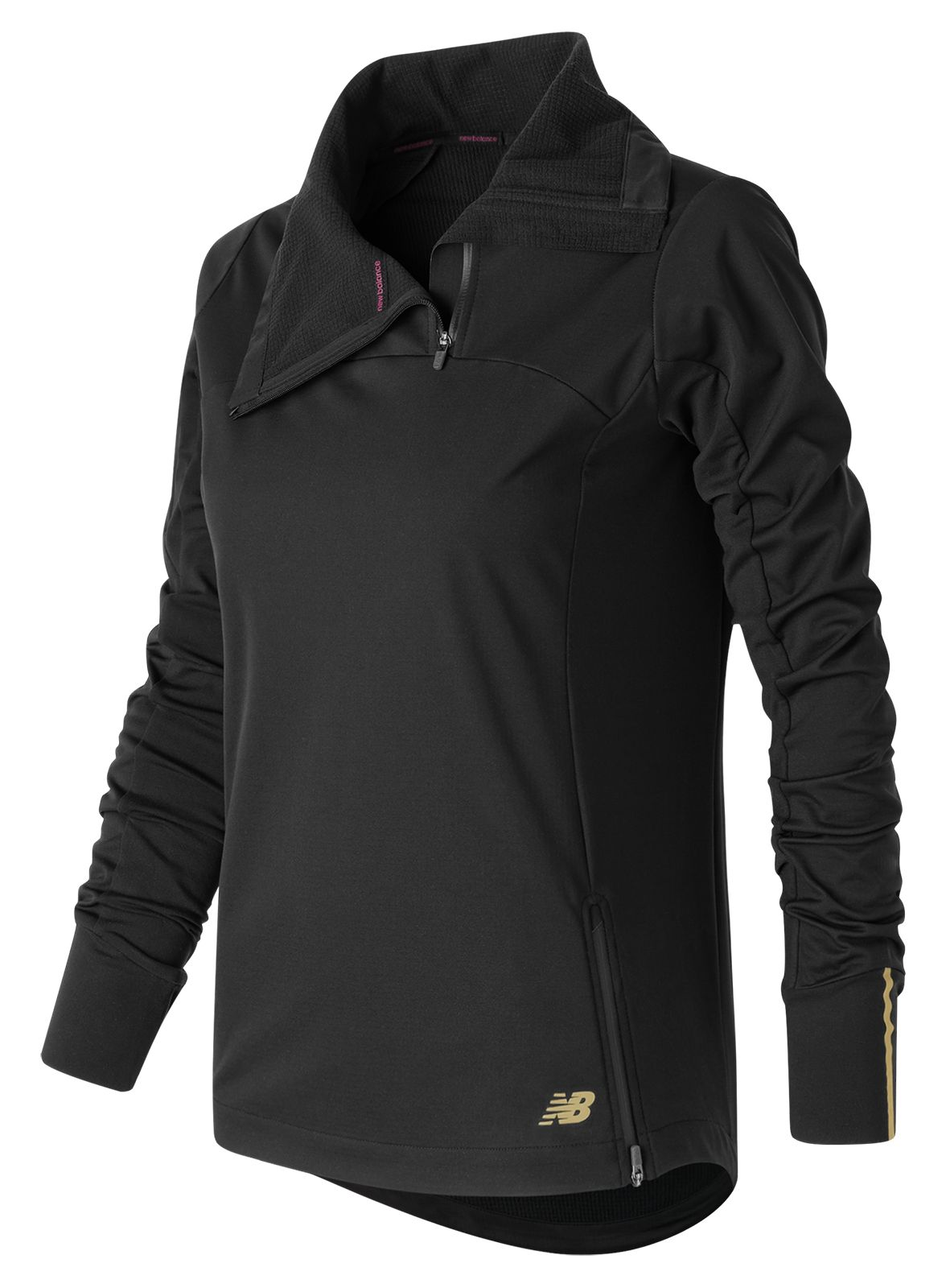 New Balance : Soft Shell Quarter Zip : Women's Performance : WT63123BK