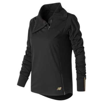 New Balance Soft Shell Quarter Zip, Black