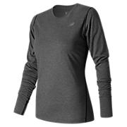 Heathered Long Sleeve Tee, Black Heather
