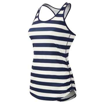 New Balance J.Crew Printed Perfect Tank, Navy with Pearl
