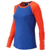 NB J.Crew In Transit Top, Fireball with Electric Blue