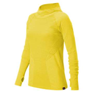 New Balance J.Crew M4M Seamless Hooded Pullover, Lemon Drop