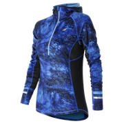 New Balance NB Heat Half Zip, Bluefin Multi with Black